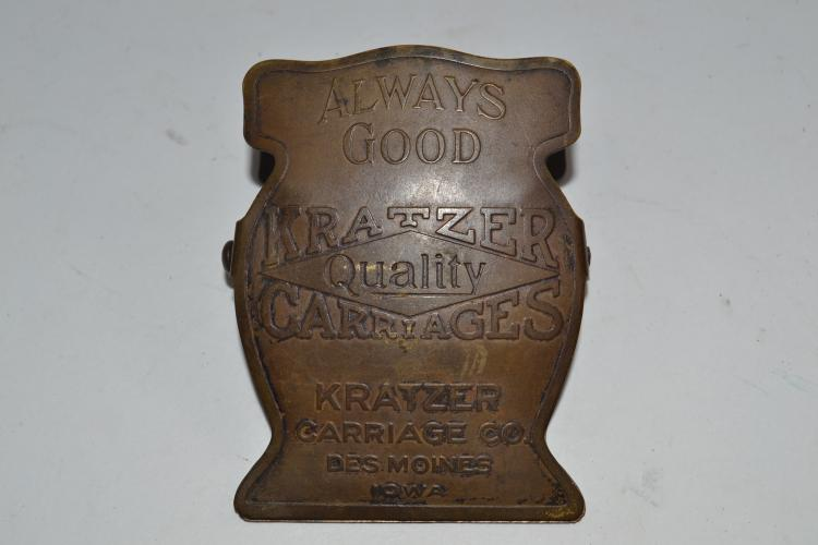 Antique Kratzer Quality Carriages Spring Clip