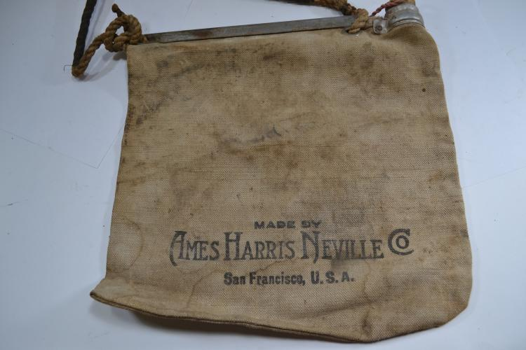 Antique Bell Systems Ames Harris Neville Flax Canvas Water Bag