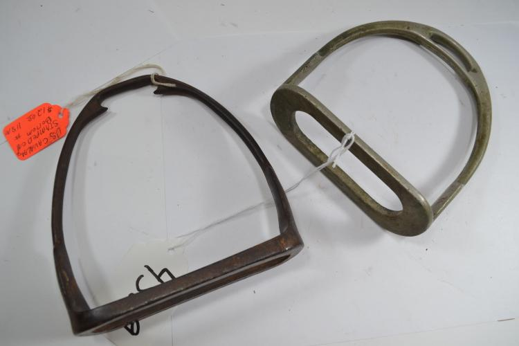 2 Antique Metal Stirrups