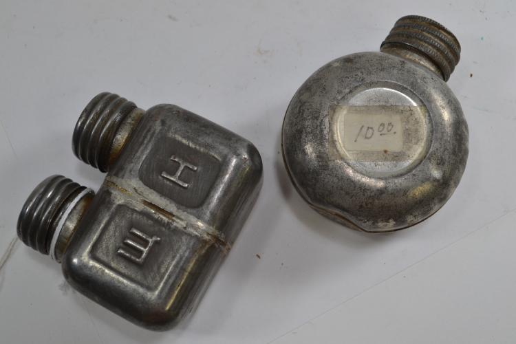 2 Antique Gun Grease Lubrication Containers