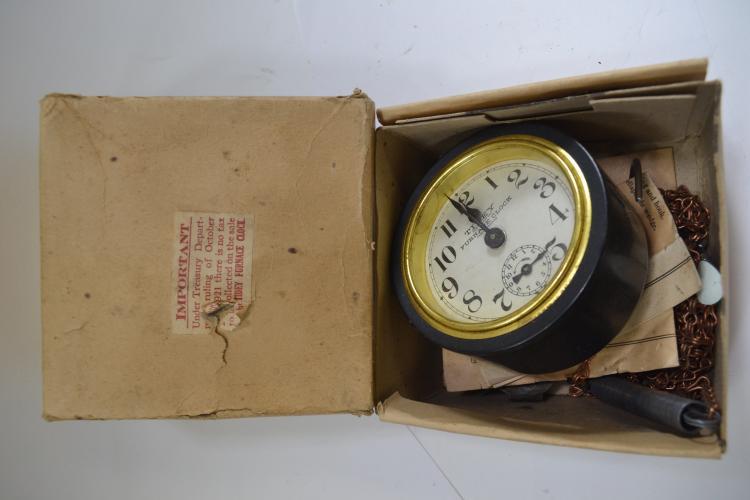 Antique Tidey Furnace Clock In Original Box