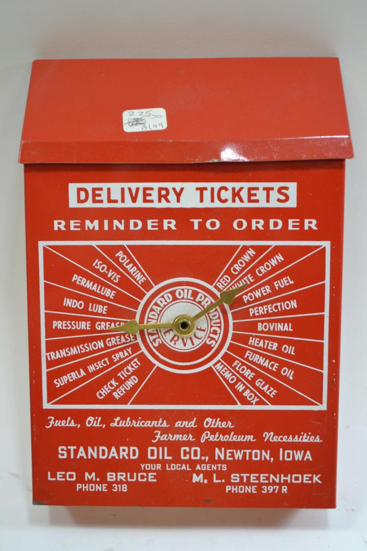 Antique Delivery Ticket Standard Oil Products Advertising Box