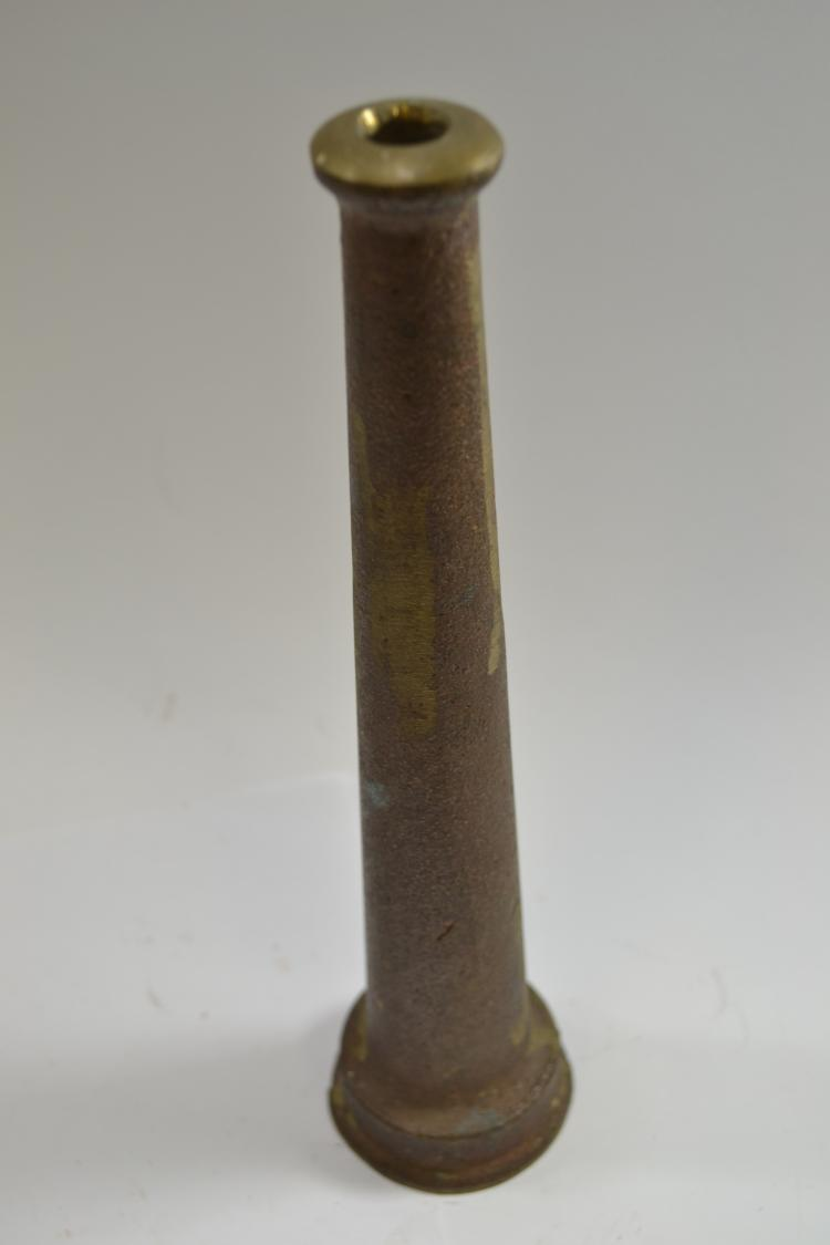 Antique Tapered Brass Fire Hose Nozzle