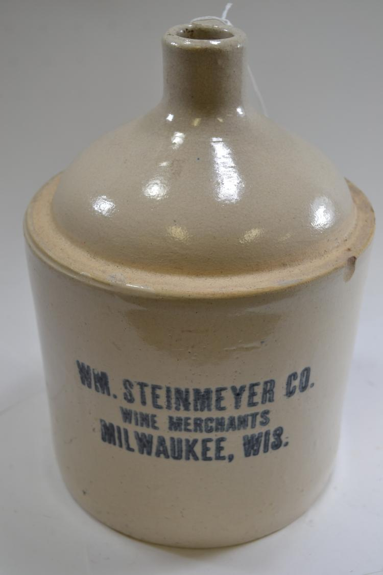 Antique WM Steinmeyer Co Crock Jug