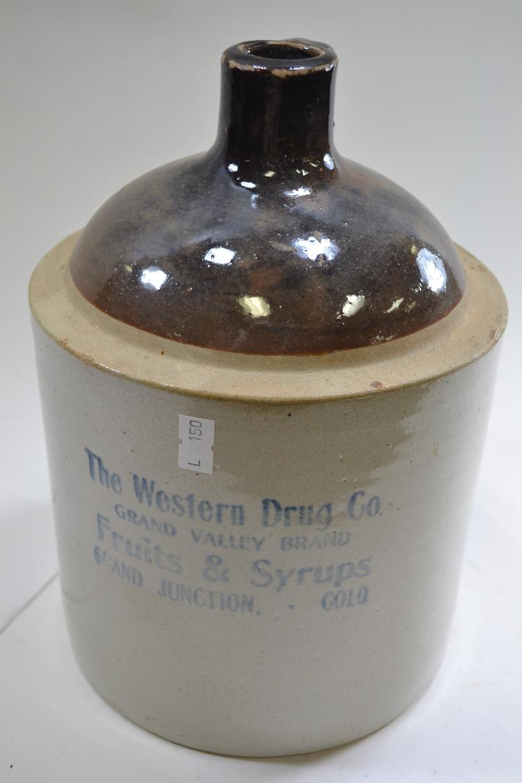 Antique The Western Drug Company Crock Jug