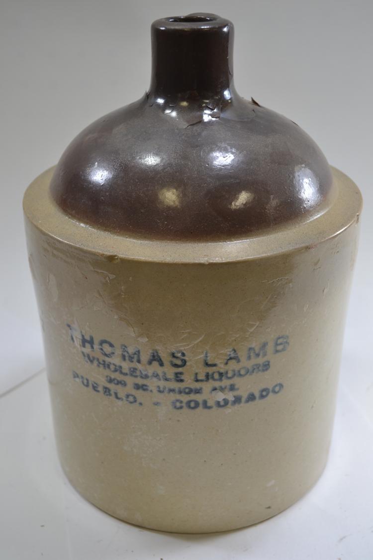 Antique Thomas Lamb Crock Jug