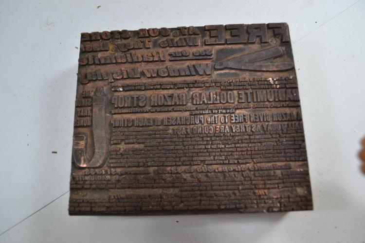 Vintage Advertising Ink Block