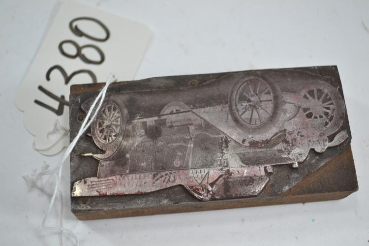 Vintage Automobile Ink Block
