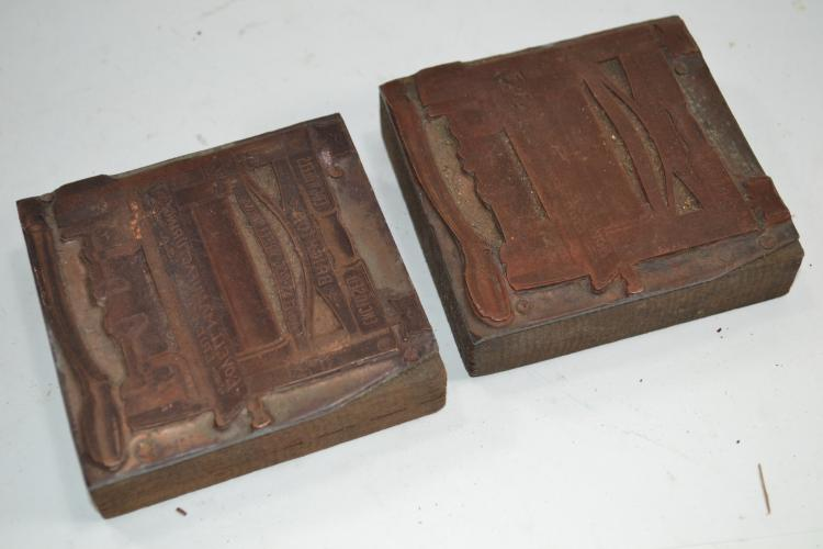 2 Vintage Lovell Manufacturing Ink Blocks