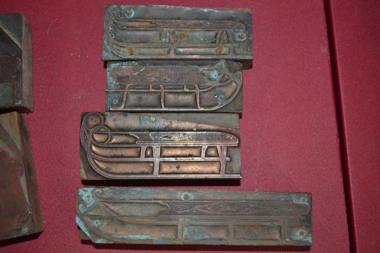 4 Vintage Sled Ink Blocks