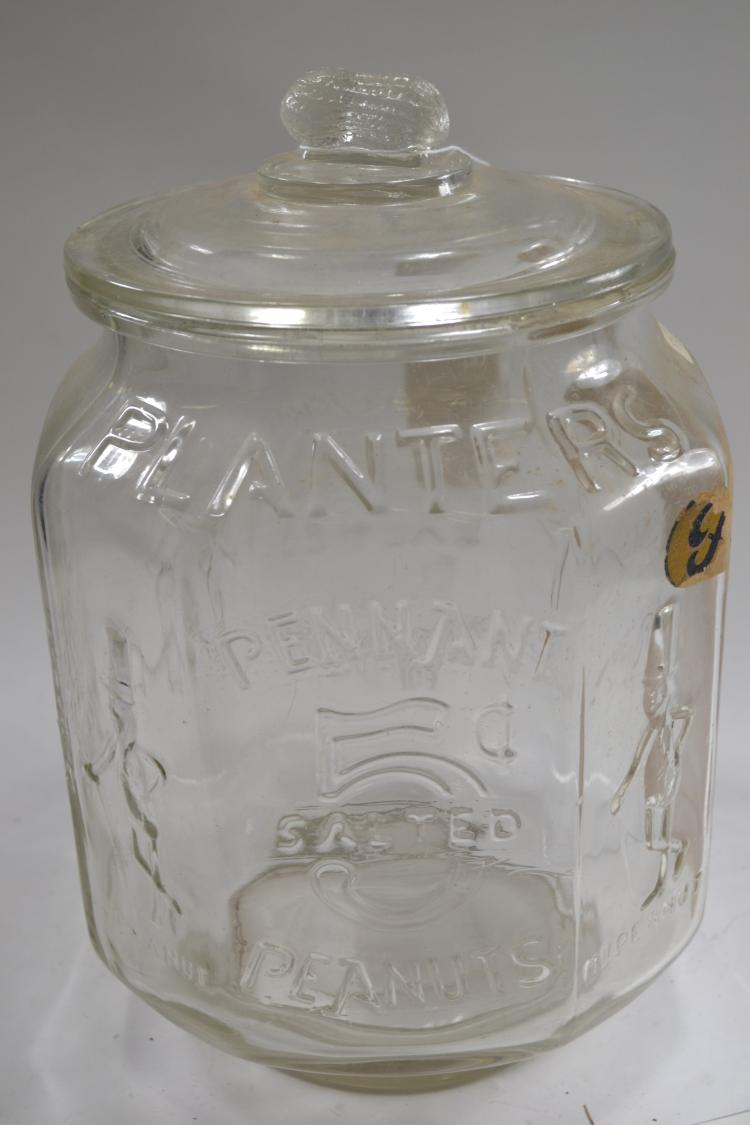 Antique Planter Peanuts Jar