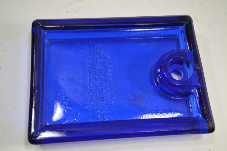 Vintage Cobalt Blue Glass Lid