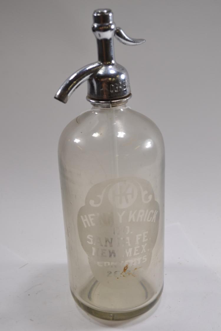 Vintage Henry Creek Seltzer Bottle
