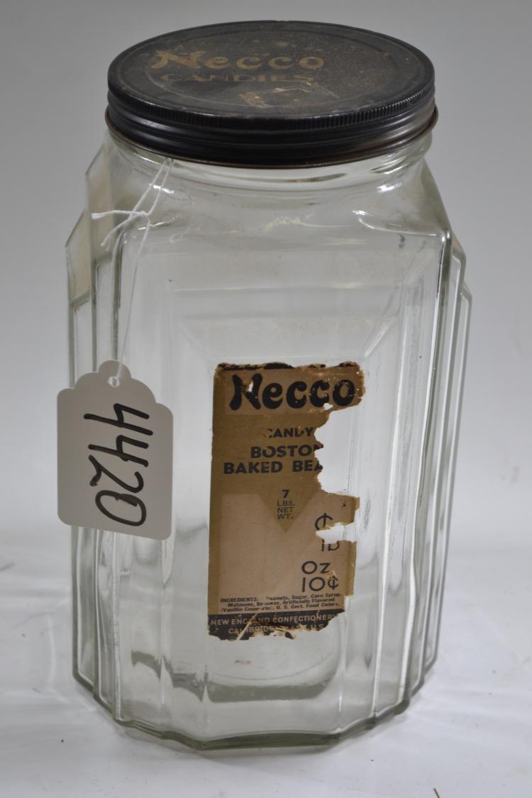 Vintage Necco Candy Jar