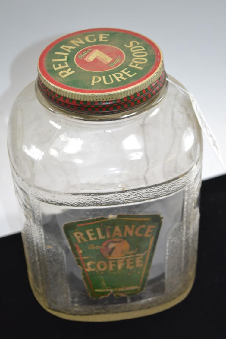 Vintage Reliance Coffee Jar