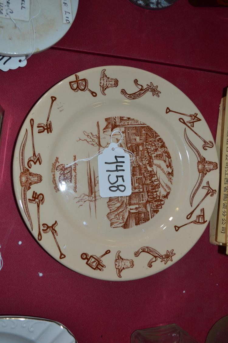Vintage Western Village Phoenix Arizona Plate