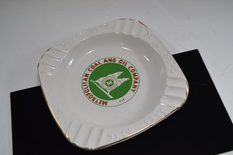 Vintage Metropolitan Coal And Oil Company Ashtray