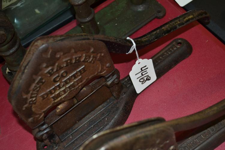 Antique Rust Parker Company Tobacco Cutter