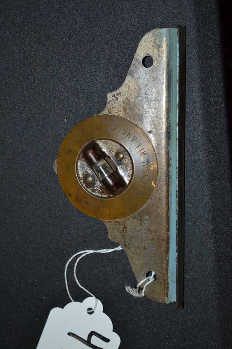 Antique Universal Manufacturing Brass Turn Dial Angle Level