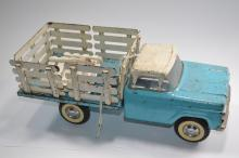 Vintage Nylint Toys Pressed Steel Stake Bed Flatbed Truck