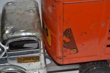 Vintage Structo Toys C - 3044 Texas Longhorn Pressed Steel Semi Truck & Trailer