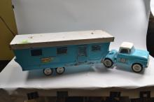 Vintage Nylint Toys Pressed Steel Ford Truck With Mobile Home