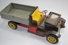 Vintage Japan Friction Tin Toy Model T Truck