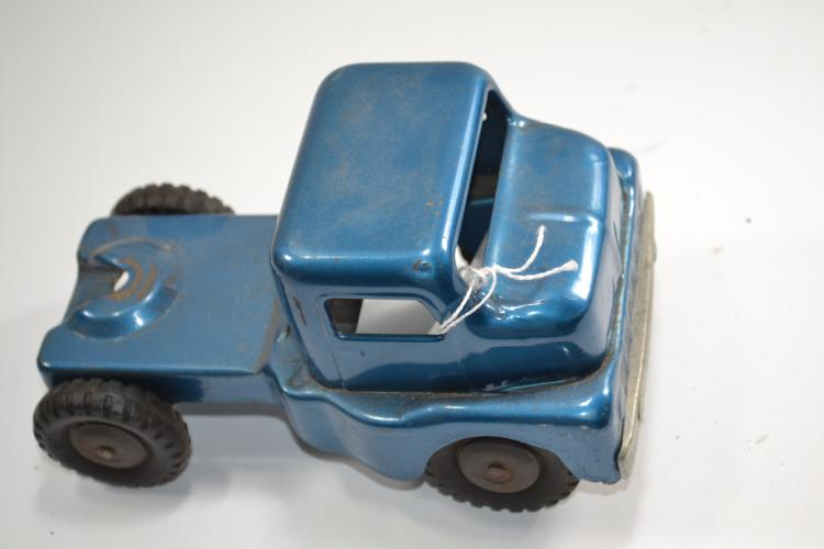 Vintage Structo Toys Blue Pressed Steel Semi Truck Cab