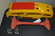 Vintage Structo Toys Auto Transport Pressed Steel Trailer Only