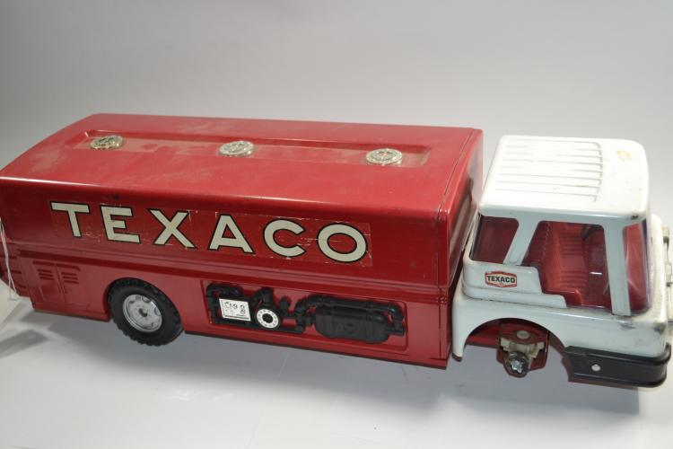 Vintage Toy Pressed Steel Texaco Tanker Fuel Truck
