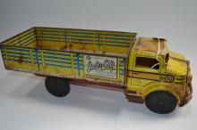 Vintage Marx Lumar Toys Pressed Steel Inter City Delivery Service Stake Bed Truck