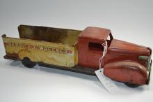 Antique Wyandotte Pressed Steel Service E  Wrecker Toy Truck