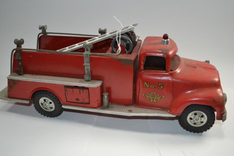 Antique Tonka Toys Number 5 Pumper Pressed Steel Fire Truck