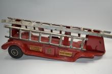 Antique Buddy L Extension Ladder Fire Truck Trailer Only