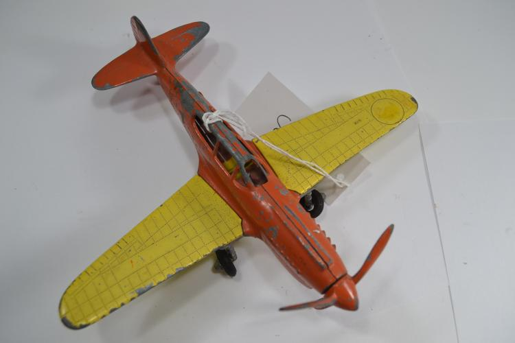 Vintage Hubley Diecast Flying Circus Toy Airplane