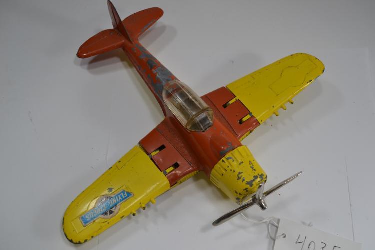 Vintage Large Hubley Kiddie Toy Folding Wing Diecast Airplane