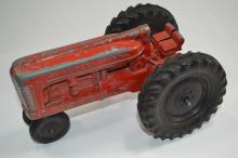Vintage Hubley Jr. Diecast Farm Tractor Toy Made In Usa