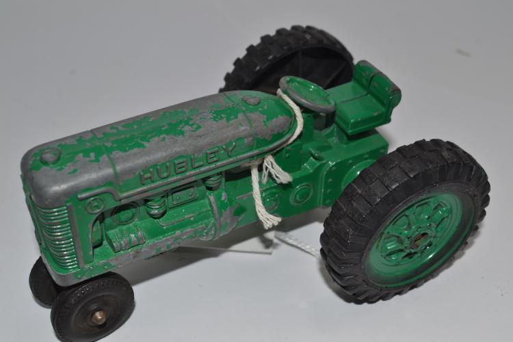Vintage Hubley Die Cast Green Farm Tractor Kiddie Toy