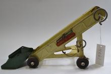 Antique Buddy L Pressed Steel  Toy Portable Scoop & Load Sand Conveyor Trailer