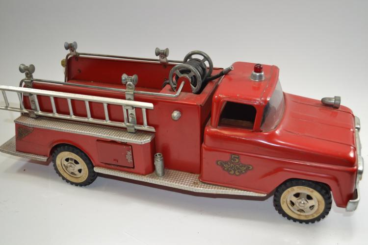 Antique Tonka Toys Number 5 Pressed Steel Pumper Fire Truck