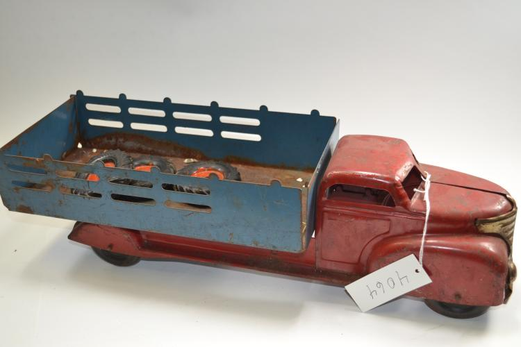 Antique Wyandotte Pressed Steel Stake Bed Toy Truck