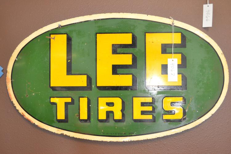 Vintage Property Lee T & R Co Of Ny Inc S-400 Lee Tires Advertising Sign