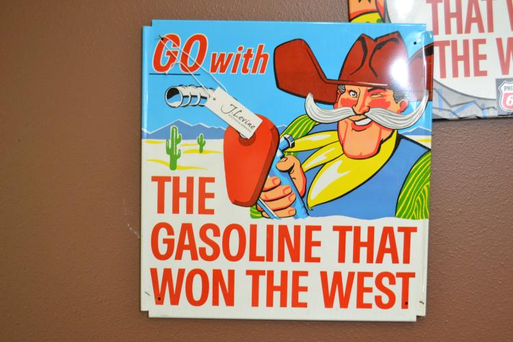 Vintage New Old Stock Phillips 66 Cowboy Go With The Gasoline That Won The West Signed