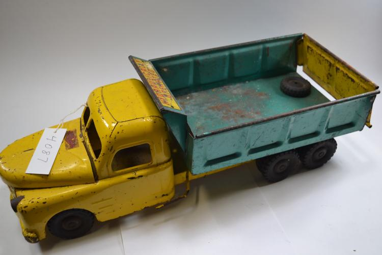 Antique Structo Toys Pressed Steel Hydraulic Operated Dump Truck