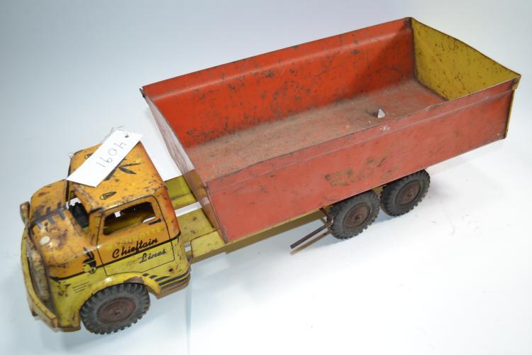 Vintage Wyandotte Chieftain Lines Pressed Steel Litho Dump Truck