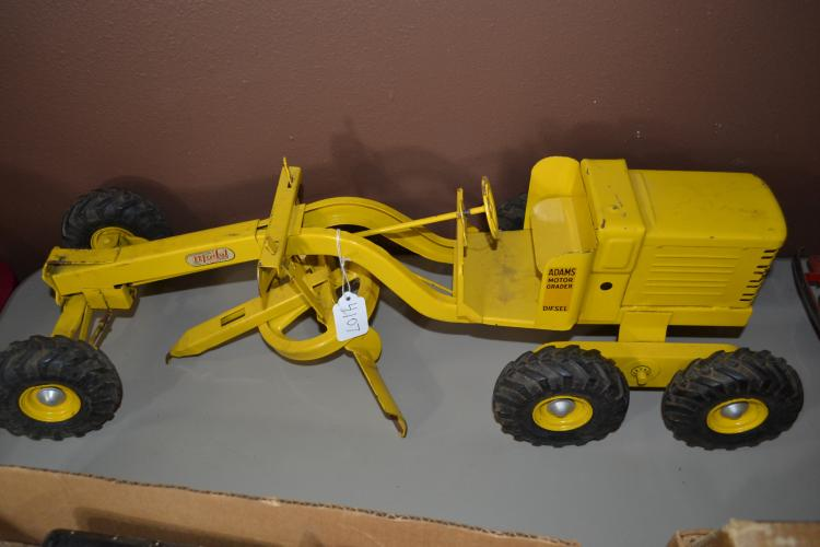 Antique Charles Wm Doepke Model Toys Pressed Steel Adams Motor Grader Diesel Tractor