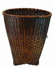 Vintage African Wicker Elongated Basket