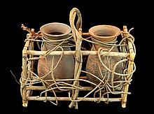 Branch & Twig Two Vessel Carrier Basket