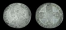 Circulated 1758 George II Silver Six Pence
