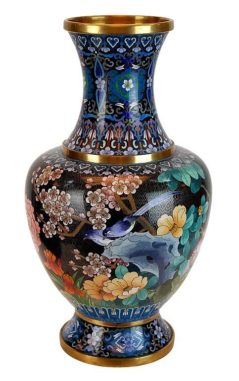 Chinese Brass Cloisonne Vase